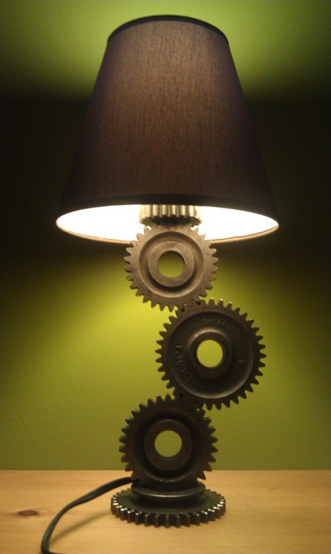 Simple Gear Industrial Table Lamp  iD Lights