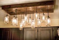 Mason Jar Wood Pallet Chandelier  iD Lights