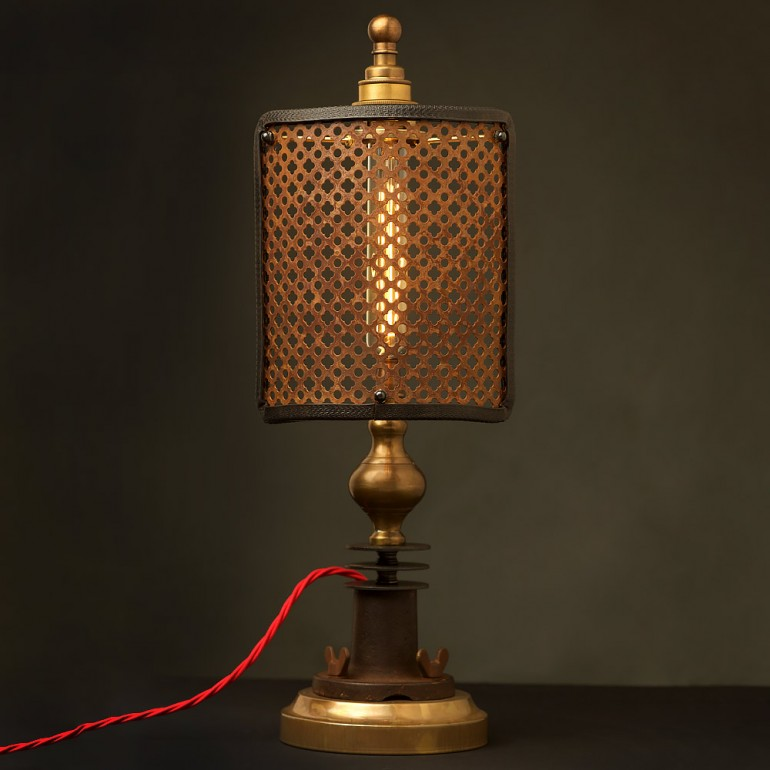 Guard Shield Steampunk Industrial Table Lamp Id Lights