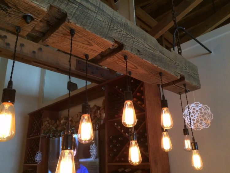 Rustic Reclaimed Wood Light Fixture ID Lights