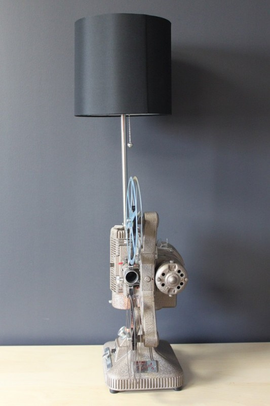 Vintage 8mm Projector Industrial Table Lamp Id Lights