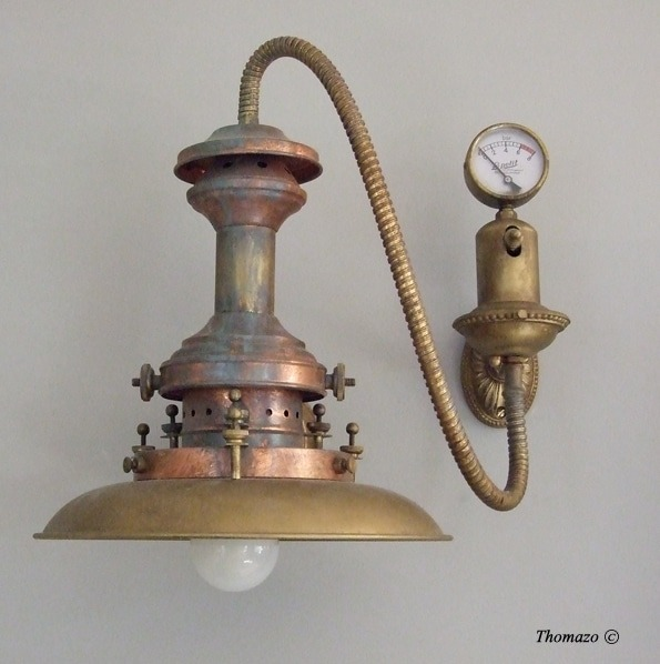 Antique Steampunk Wall Sconce  iD Lights