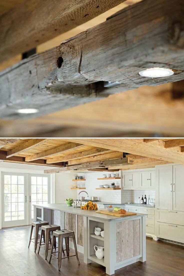 reclaimed wood beam light fixtures