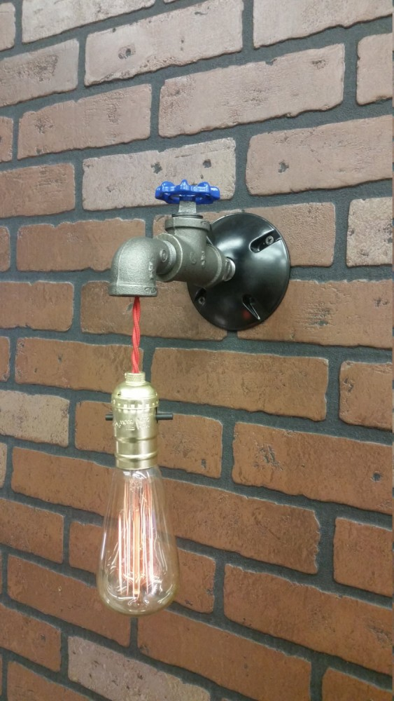 Bathroom DIY Pipe Lamps made with Recycled Taps  iD Lights
