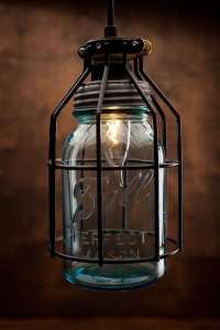 Rustic Vintage Lamp with Vintage Corporation Mason Jar ...