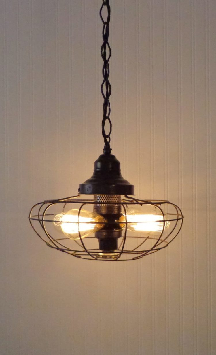 Oneofakind Fan Rustic Vintage Chandelier  iD Lights
