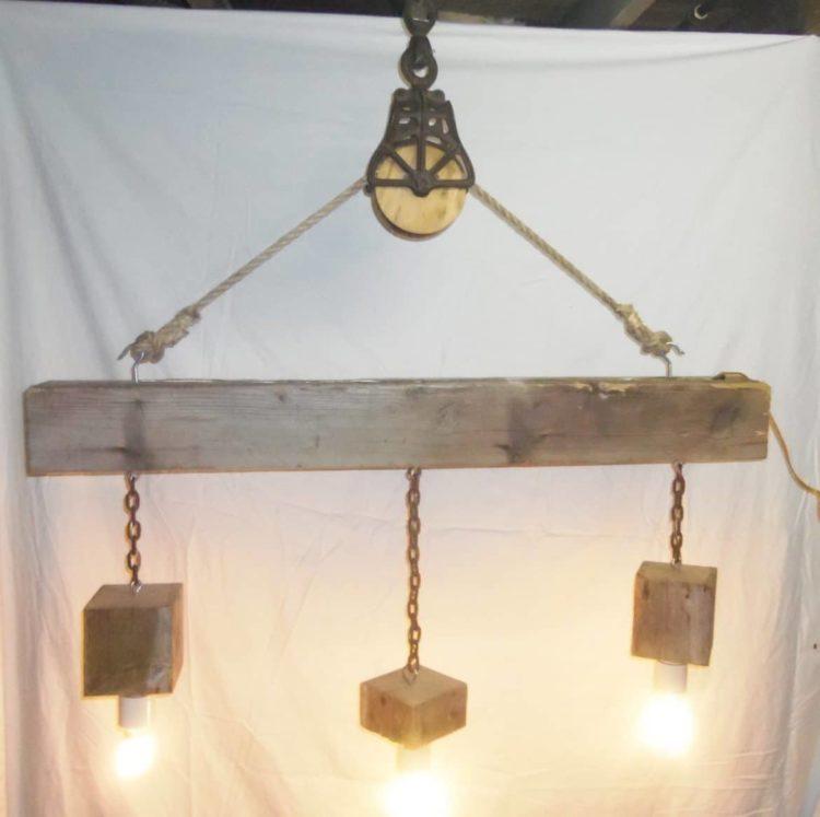 pulley pendant light