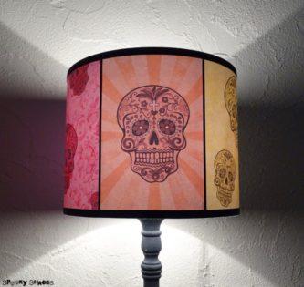 Rainbow Sugar Skulls Table Lamp  iD Lights