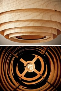 Wood Veneer Boll Chandelier Pendant Lighting  iD Lights
