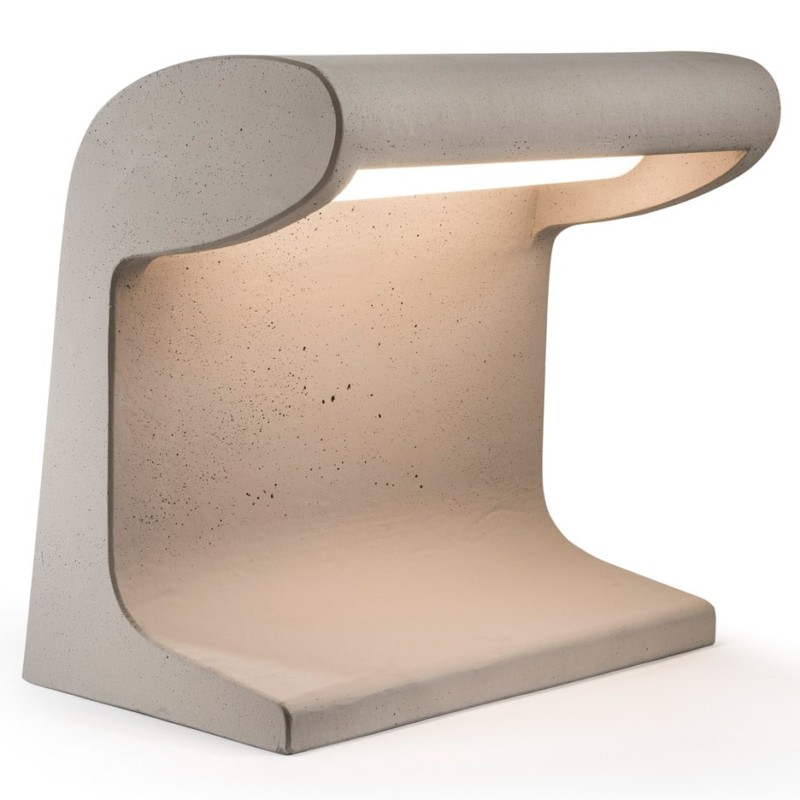 Cement Desk Lamp Designed by Le Corbusier Reissue  iD Lights