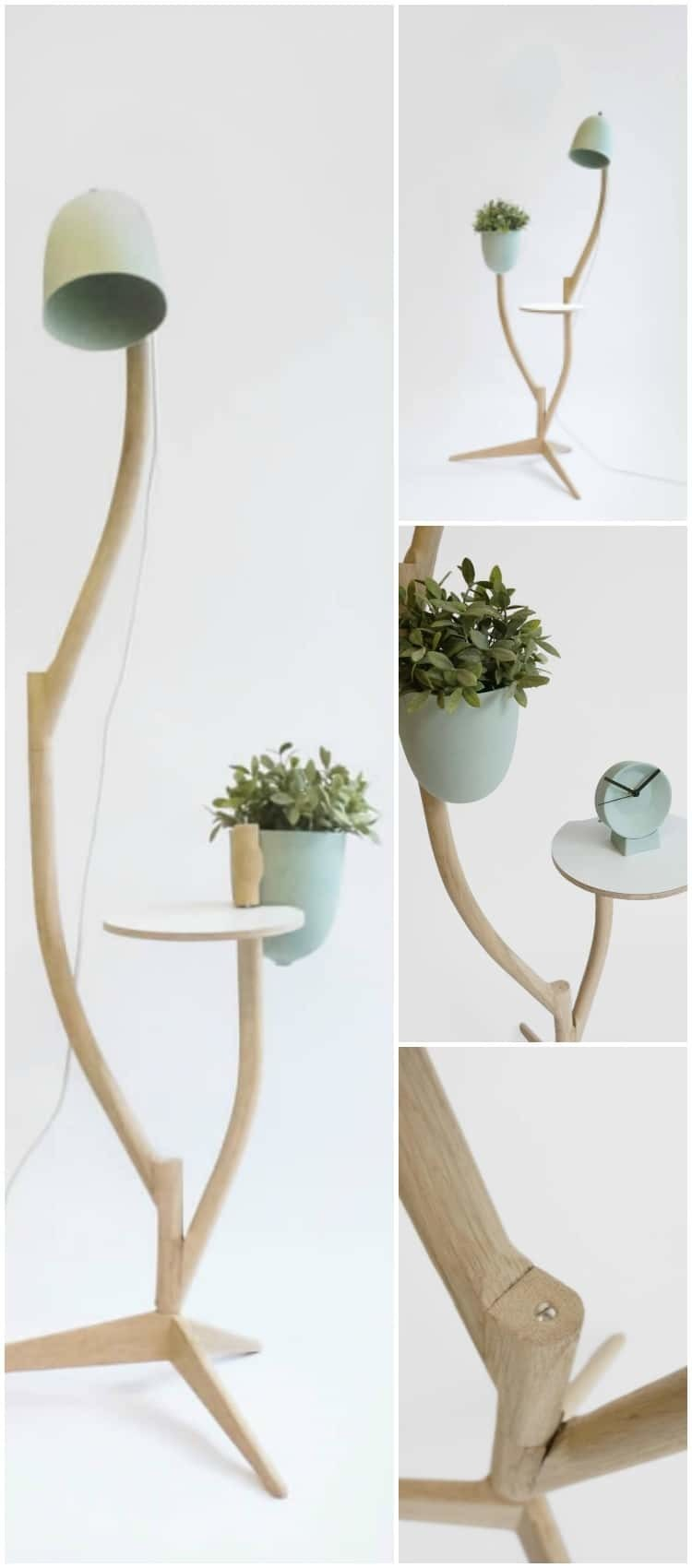 Multi Purpose Branch Out: Table, Flower Pot and Floor Lamp