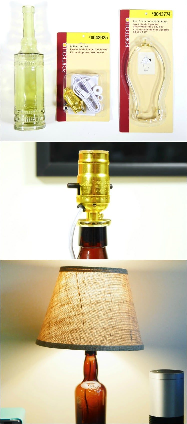 Turn an Old Liquor Bottle into a Desk Lamp in 10 Minutes
