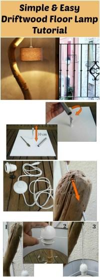 Simple & Easy Driftwood Floor Lamp Tutorial | iD Lights