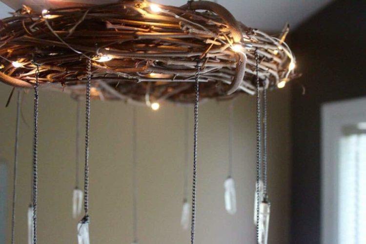 Bohemian Wood  Crystal Chandelier  iD Lights