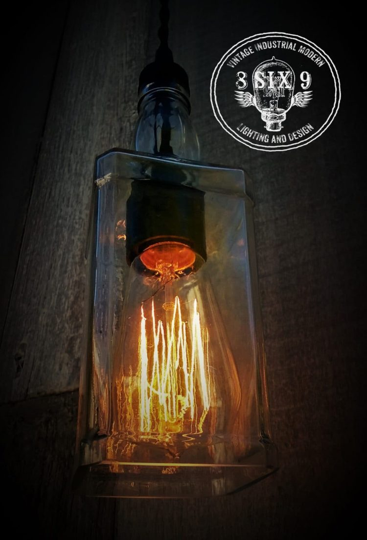 Whiskey Bottle Pendant Lighting  iD Lights