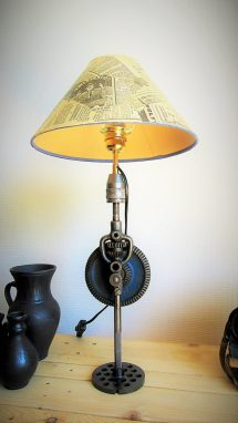 Lumimeca Recycled Steampunk Table Lamp - Id Lights