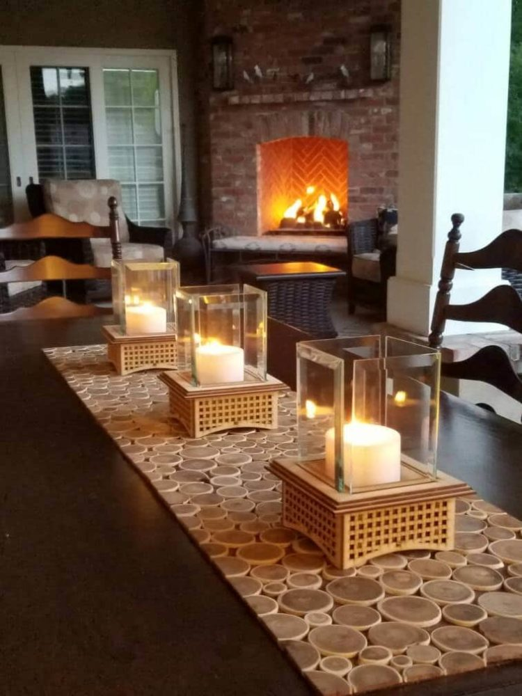 Mini Outdoor Fireplace Kits Tabletop Glass  iD Lights
