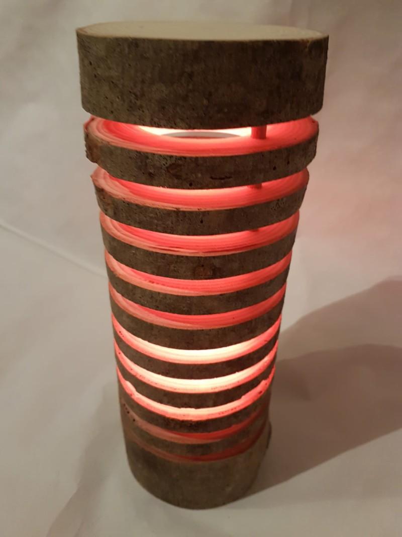 Colorful Wood Log Lamp  iD Lights