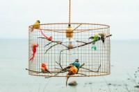 Copper Birdcage Pendant Light Chandelier  iD Lights