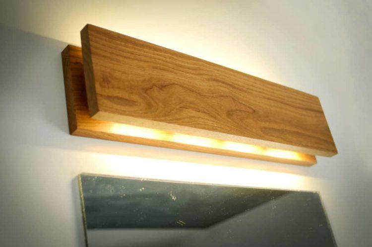 Handmade Oak Wooden Sconce  iD Lights