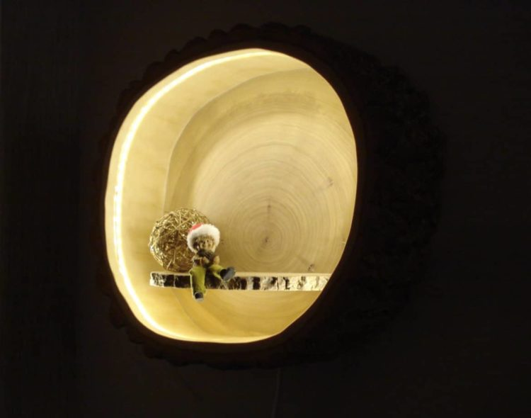 Wood Tree Trunk Sconce Lamp  iD Lights