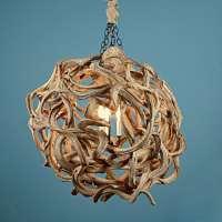 Driftwood Ball Chandelier  iD Lights
