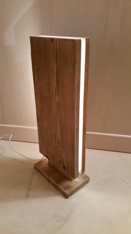 Reclaimed Wood Led Floor Lamp Id Lights