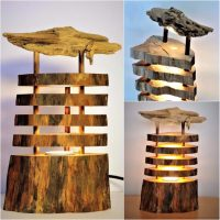 Seaside Driftwood Log Lamp  iD Lights