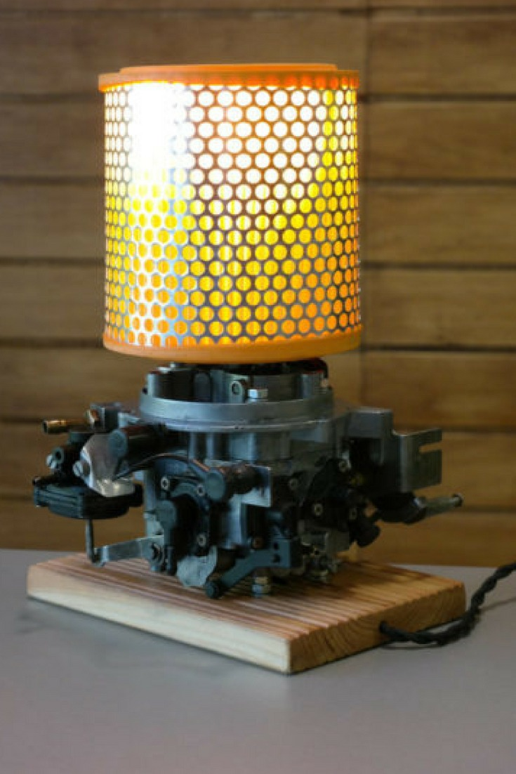 Table Lamp from Vintage Retro Car Parts  iD Lights
