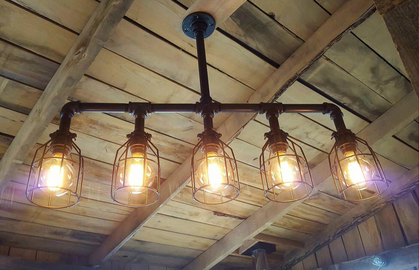 Rustic Industrial Lighting Chandelier  iD Lights