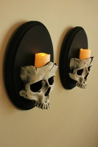 Set of Skull Sconces  iD Lights