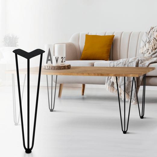 lot de 4 pieds epingle 40 5 cm pour table design industriel