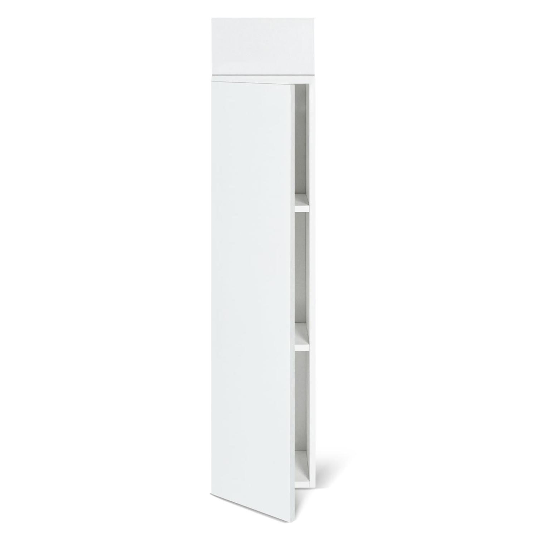 meuble colonne suspendu blanc lila pour salle de bain idmarket