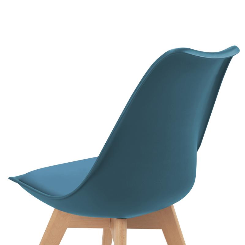chaises scandinaves bleues pas cheres