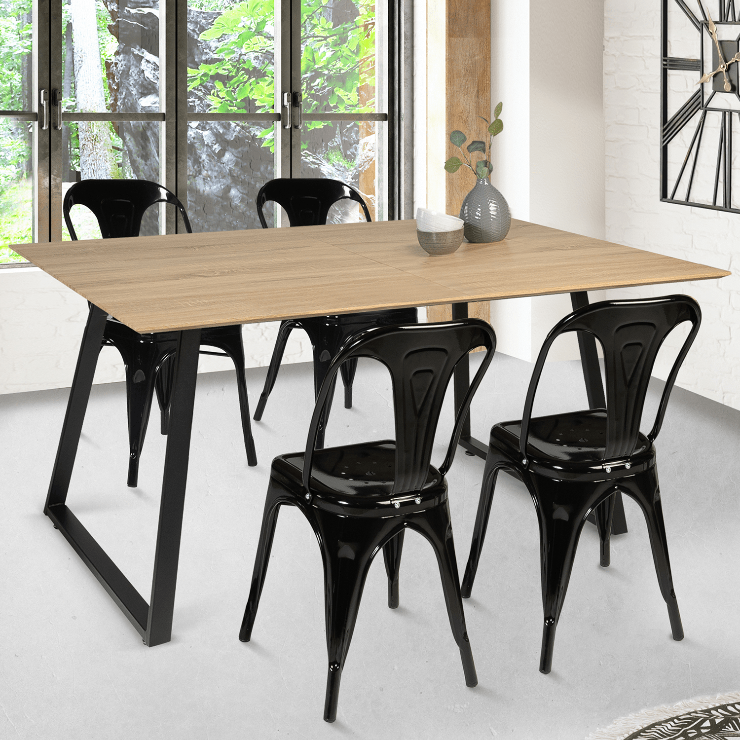 table a manger havana extensible 6 8 personnes design industriel 15
