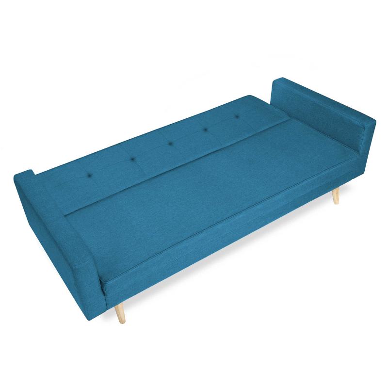 canape convertible bleu canard pas cher