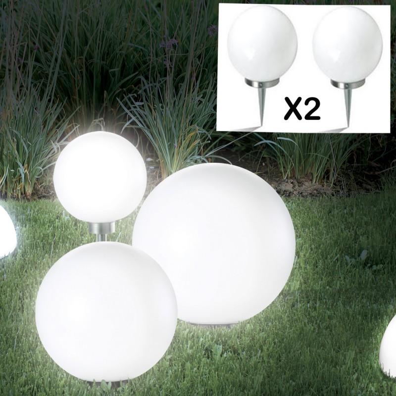 Lampe boule 15 cm led solaire X2 Eclairage et dcoration extrieure