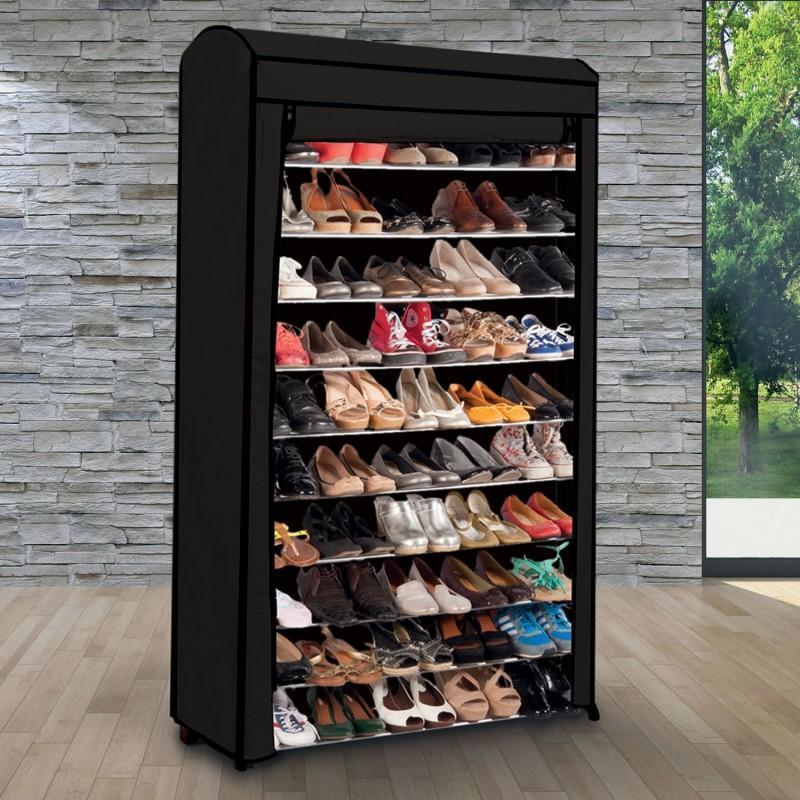 Etagre Range Chaussures 50 Paires Modulablehousse Noire
