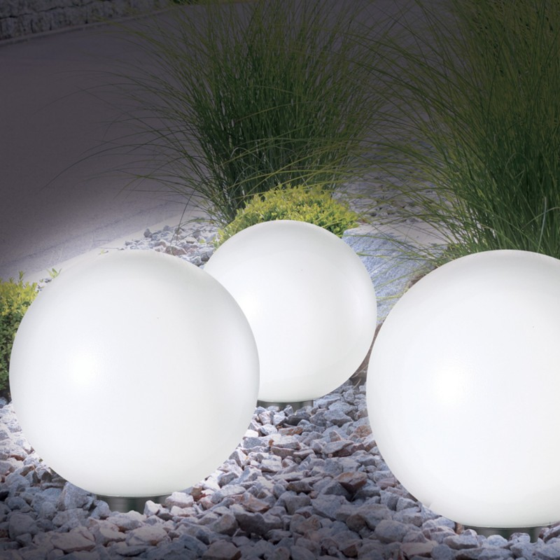 Lampe boule 30 cm led solaire X2 Eclairage et dcoration extrieure