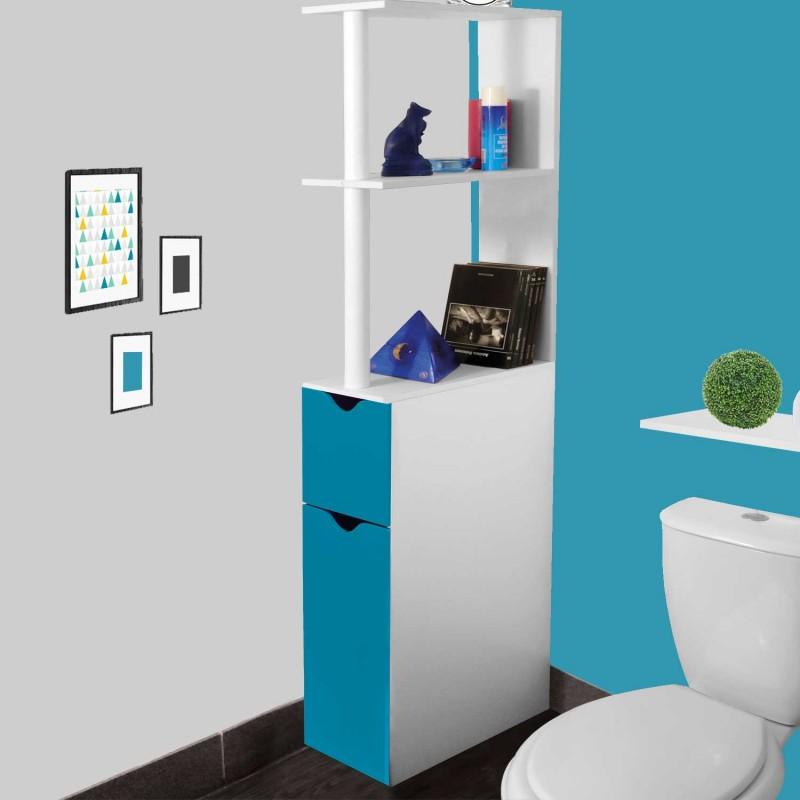 Meuble WC Tagre Bois Gain De Place Pour Toilette 2