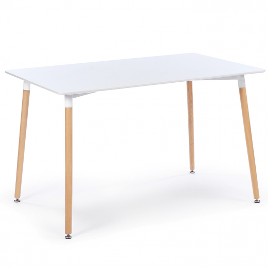 table a manger scandinave sara 120 cm blanche