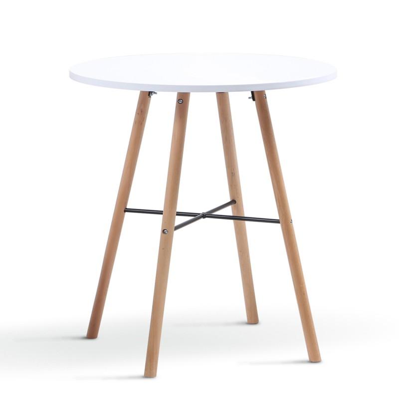 table a manger ronde scandinave sara blanche