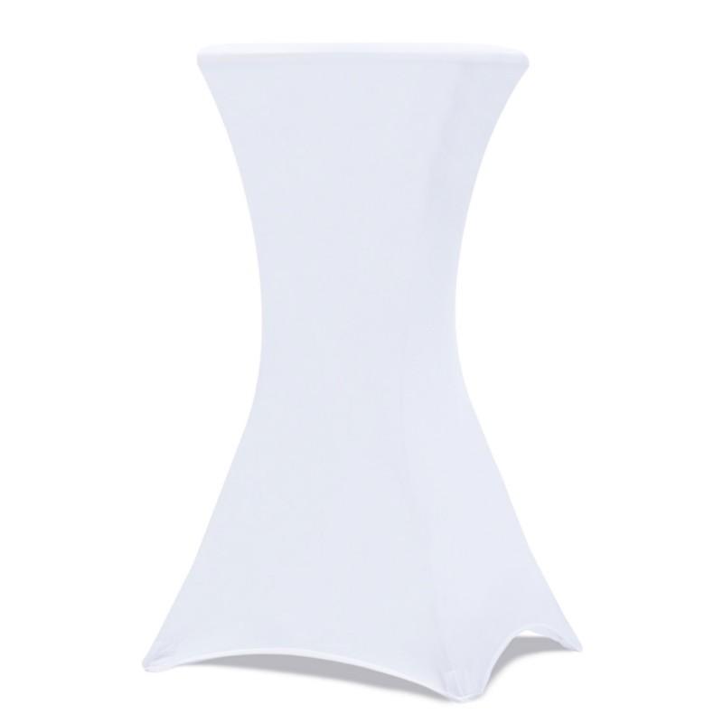 Housse blanche pour table haute pliante mange debout Chapiteaux de