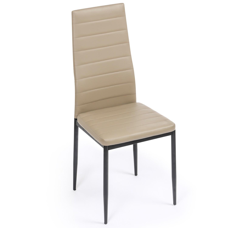 lot de 6 chaises romane taupes pour salle a manger idmarket