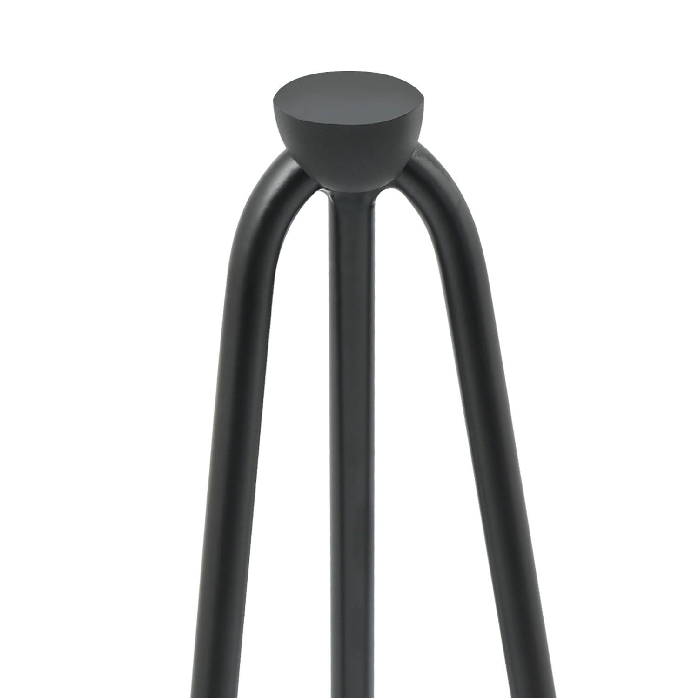 lot de 4 pieds epingle 40 5 cm pour table design industriel idmarket