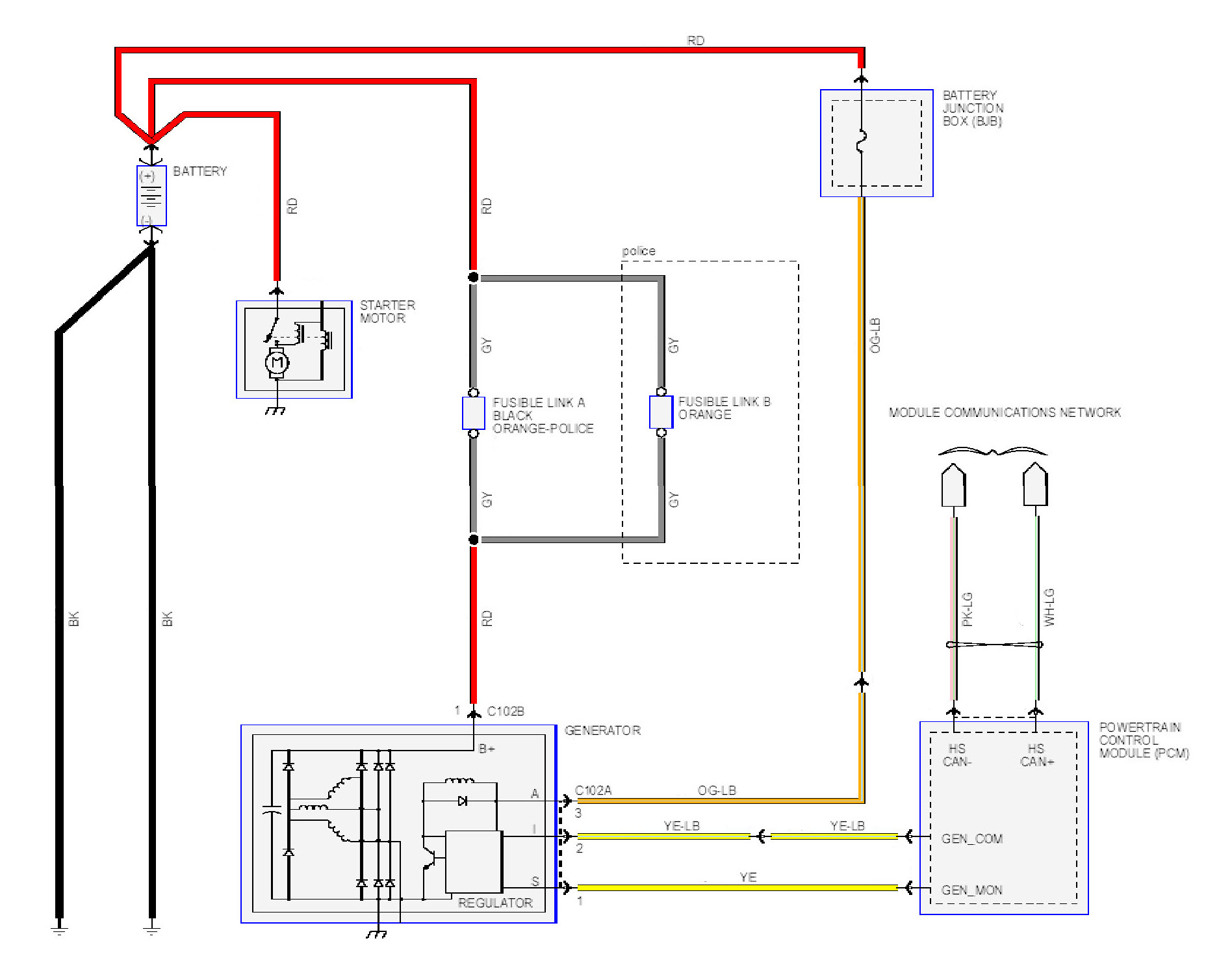 ford charging system wiring diagram 110 outlet schematic get free image about