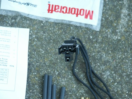 small resolution of the blower resistor wiring pigtail is also avaliable aftermarket from napa with color coded wires but the napa blower resistor pigtail does not include the