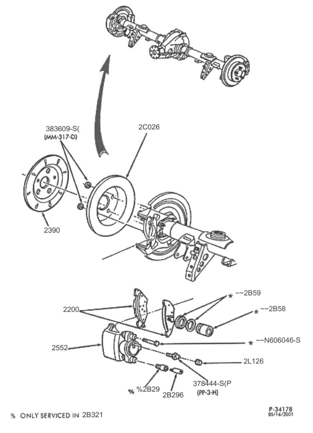 medium resolution of interestingly 92 crown vics have both brake pads and brake shoes in the rear the pads are engaged during normal braking and the minature set of shoes