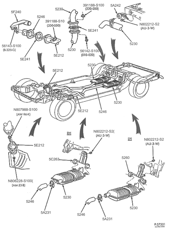 ford focus exhaust system diagram nissan patrol wiring radio manifold auto parts diagrams