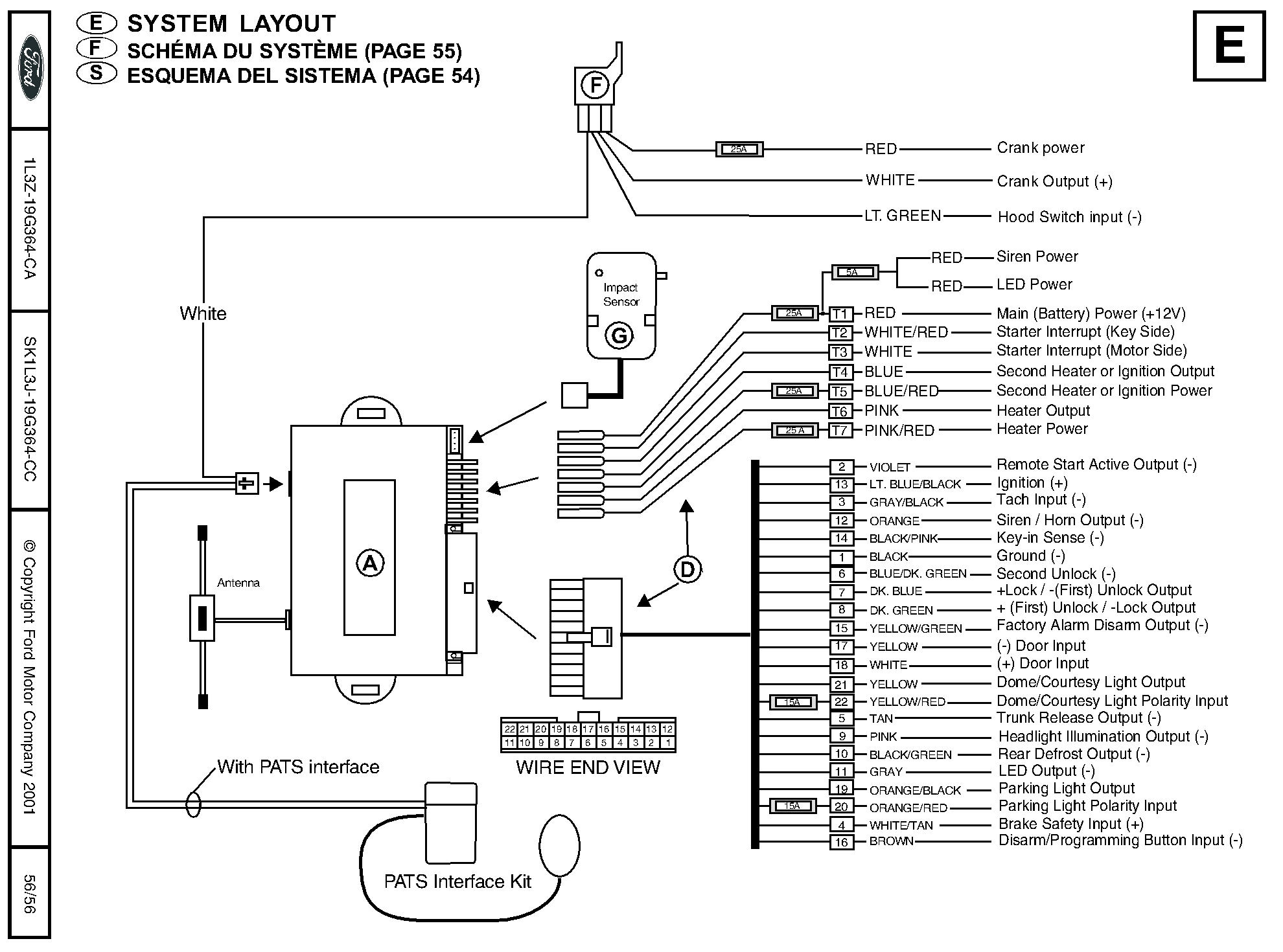 car alarm system wiring diagrams 2004 mazda tribute engine diagram ford remote starter and installation